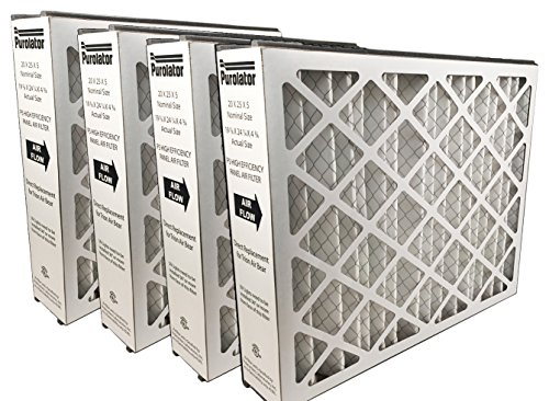 Sur-Seal P5MV11-20X20X5XCS P5-MV11 20x20x5 Purolator High End Filter, Replacement for Trion Air Bear (Pack of 4) (Furnace Filters 15x26x1 compare prices)