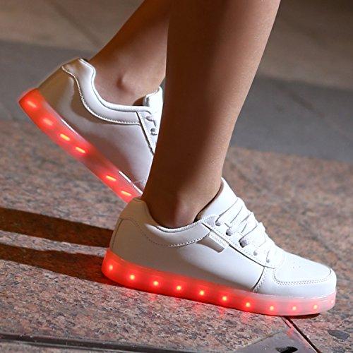 Sportive Dogeek Luci donna Le Uomo Bianca Scarpe Luminosi Unisex donna Sneakers Accendono uomo Con Led xqOHRx
