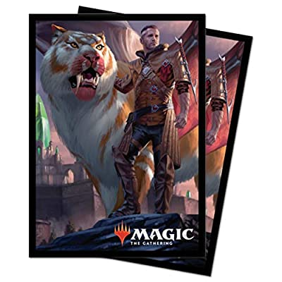 Ikoria: Lair of Behemoths - Lukka, Coppercoat Outcast Standard Deck Protector Sleeves 100ct for Magic: The Gathering: Toys & Games