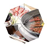 Meat Multicookings Food Useful Travel Umbrella with Windproof Double Canopy - Auto Open/Close Button
