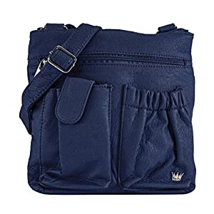 Purse King Poppy Shoulder Bag (Dark Navy)