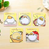Katoot@ 3 psc/lot Japanese Gudetama Memo pads Cute lazy Egg post it note paper kawaii stationery escolar office school supplies