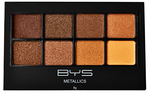 BYS Eyeshadow Makeup Palette 8 Shades - Metallic Browns