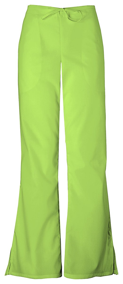 Cherokee Women's Flare Leg Drawstring Pant_Lime Green_XX-Large Petite,4101P