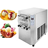 Happybuy 1500W Commercial Hard Ice Cream Machine R410A Ice Cream Machine Digital Display Ice Cream Maker Machine Stainless Steel 15-22L/H for Restaurant Coffee Shop