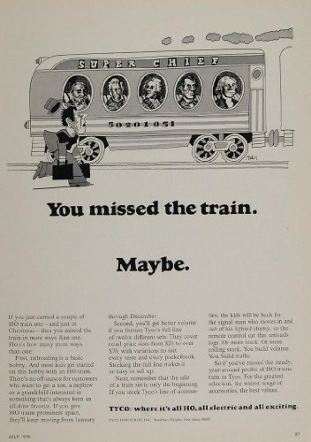1970-ad-tyco-ho-model-train-sets-super-chief-toy-original-print-ad