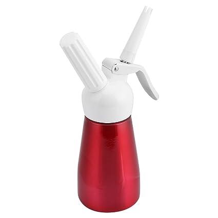250 ml Dispensador de crema dispensador de mantequilla portátil profesional de nata de aluminio con usar