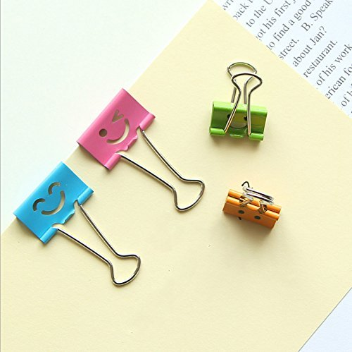Set of 24 paper binder clips creative colorful paper holder office supplies school accesseries 32mm