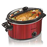 Hamilton Beach 33451 Slow Cooker, 5 Quart, Red For Sale