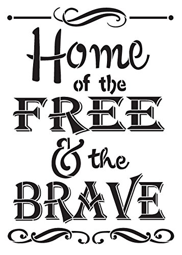 Home Of The Brave Stencil by StudioR12 | Scrolls and Patriot