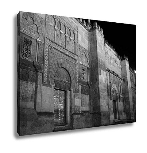Ashley Canvas Doors Of The Mosque In Cordoba Spain, Kitchen Bedroom Living Room Art, Black/White 24x30, AG4931041 by Ashley Canvas