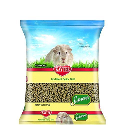 - Kaytee Supreme Guinea Pig Food, 5-lb bag
