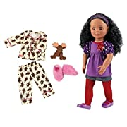 Bundle Item: Our Generation 18  Abrianna Doll with Moose-Print PJ's and Plush Toy