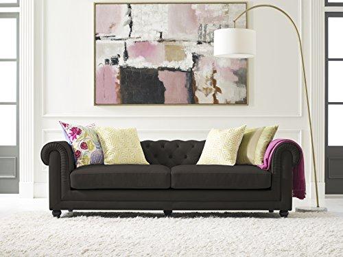 Elle Decor Amery Tufted Sofa, Chenille, Gray from Elle Decor