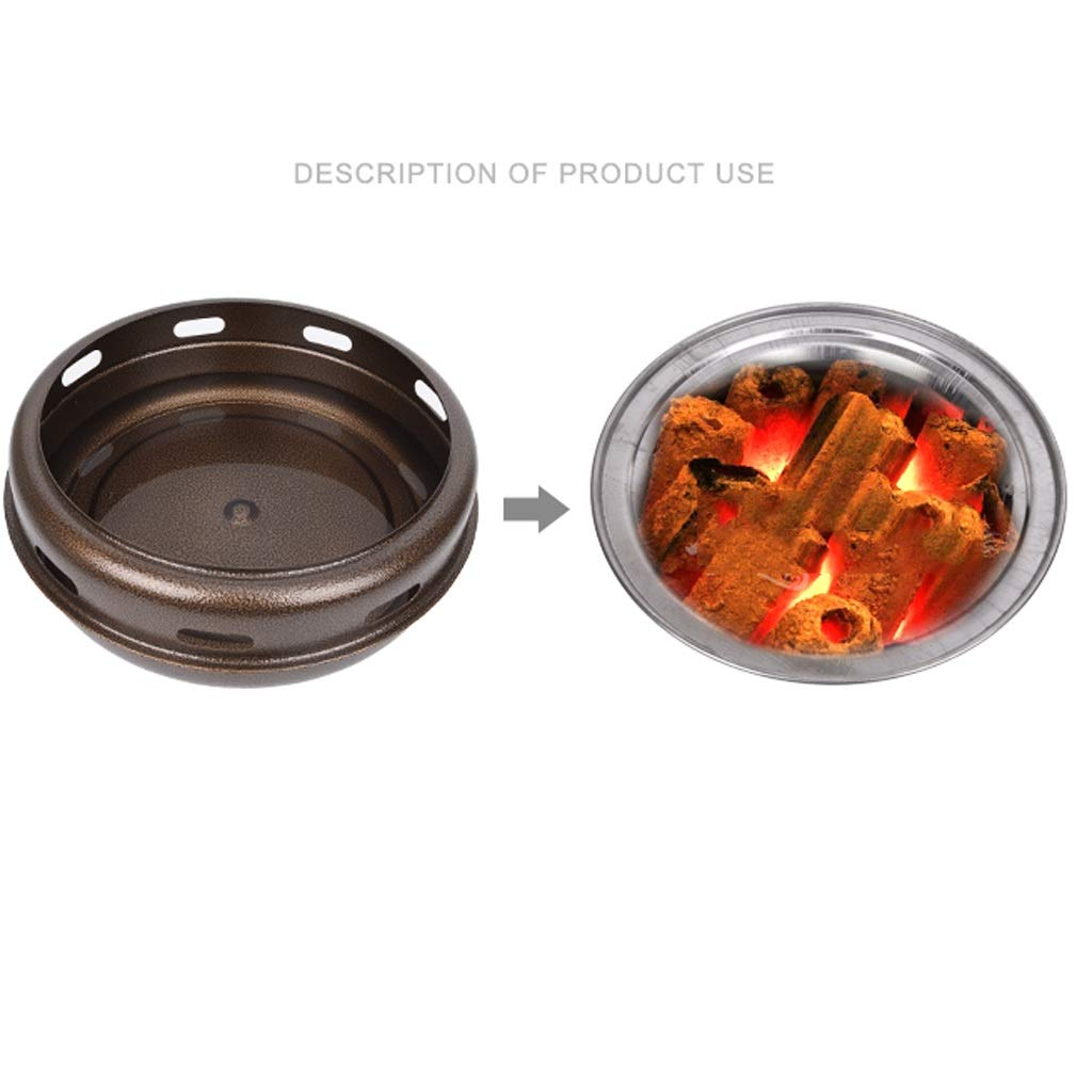 MEI XU Barbecue Grill BBQ Grill - Korean Carbon Barbecue Round Barbecue Stove Korean Charcoal Baking Tray Commercial Charcoal fire Barbecue Home Barbecue Pot (Edition : A) by MEI XU (Image #2)