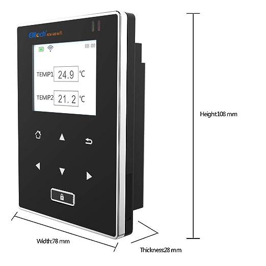 Elitech RCW-600 WiFi Medidor de Temperatura de Dobles Sensores, Registrador Termometro con Sonda Externa, Alarmas por APP, Operación remota por ELITECH Cloud, para Restauración, Logística, Medicina: Amazon.es: Industria, empresas y ciencia