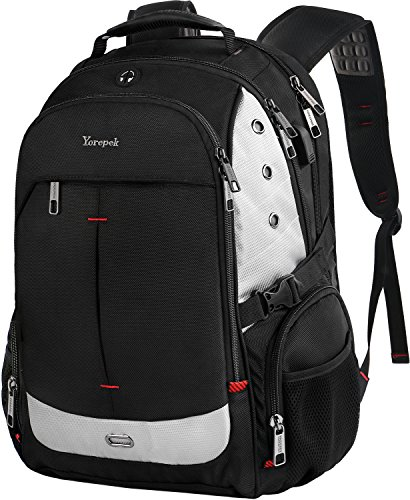 Large Laptop Backpack,Extra Large Travel Laptop Backpacks with USB Charging Port for Men Women,TSA Friendly Water Resistant Big Business College School Computer Bookbag Fit 17-Inch Notebook,Black - Laptop Shop