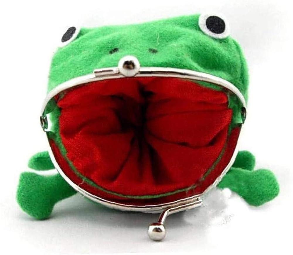 Black Sugar Grenouille Verte Sac Monnaie Cosplay D/éguisement Accessoires Peluche Porte-Monnaie Portefeuille