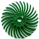 3M Radial Bristle Discs 1'' with 1/8'' Hole Size 50 Grit Green 6 PLY