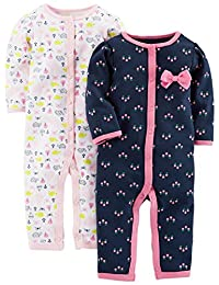 Simple Joys by Carter's baby-girls Baby 2-pack Cotton Footless Sleep and Play