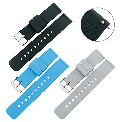 Swatch Replacement Rubber Strap Watch 22mm (Black) - 8