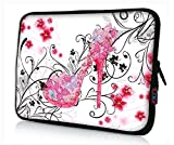 iColor 15'' Laptop Handle Sleeve Bag Neoprene 14.5'' 15.4'' 15.6'' inch Neoprene Netbook Computer Tablet PC Handle Case Carrying Cover Pouch Holder Protection-Pink High-heeled shoes