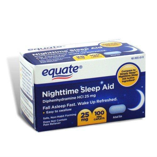 Health And Beauty Aids: Nighttime Sleep Aid 25 Mg, 100 Mini-Caplets (Pack