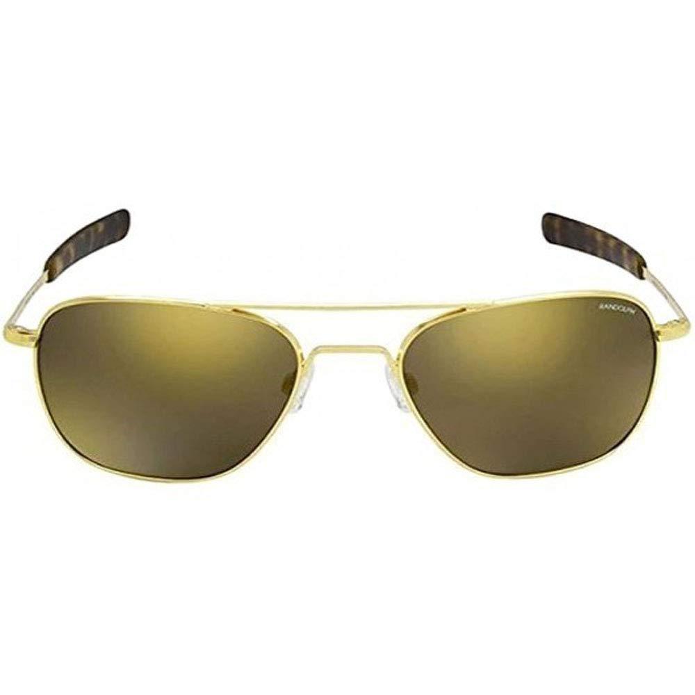 Randolph Aviator 23 K Gold Bayonet Temple Glass Gold Flash ...