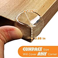 DEDC 20 Pieces Clear Corner Protectors Spherical for Kids Baby Proofing Table Corner Guards Furniture Sharp Corners Baby Safety Protectors with Strong Adhesive Tape