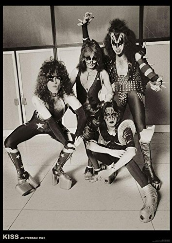 Kiss Group Poster (Kiss – Amsterdam 1976 Poster 23 x 35in)