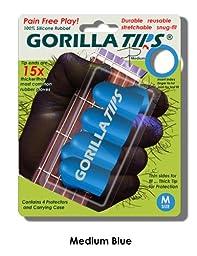 Medium Blue GORILLA TIPS fingertip guards/protectors for Guitar, Banjo, mandolin, etc.
