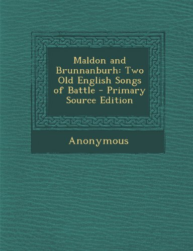 a character analysis of the battle of maldon Sample poetry analysis model  write letters in the voice of a character 23  caedmon's hymn or the battle of maldon.