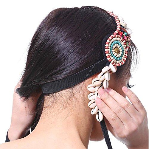 AvaCostume Womens Belly Dance French Braid Headband Accessories, White
