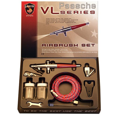 Paasche VL-SET Double Action Siphon Feed Airbrush (Automotive Airbrush)