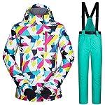 Beesuya-Tuta-da-Sci-Tuta-da-Sci-Tuta-da-Sci-da-Donna-Resistente-allAcqua-Pantaloni-da-Snowboard-Invernale-allaperto-Tuta-da-Snowboard-Set-di-Abbigliamento-da-Neve-Everybody