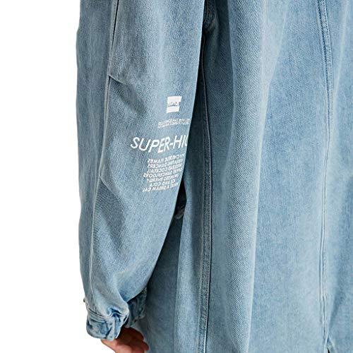 Blue Con 190 Da Lungo Giacche Cerniera Uomo Giacca Cappuccio color 108a Coulisse Lampo Size Per Giubbotto Blue Chiusura xxl Z50Uq