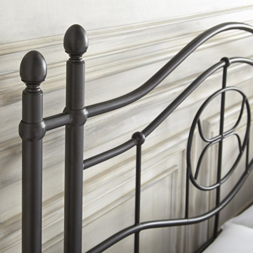 Flex Form Evie Metal Platform Bed Frame / Mattress Foundation with Headboard and Footboard, Queen by Flex Form (Image #2)