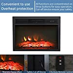 "Top Space 24""/30"" Electric Fireplace Insert LED Adjustable Flame Logs with Remote, 1400W/4777 BTU by Top Space"
