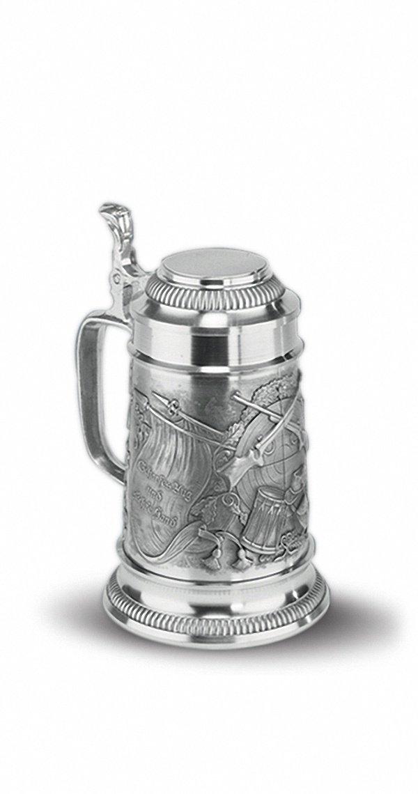 Die Neue Linie Boccale da Birra da 0,5 litro con Coperchio Piatto