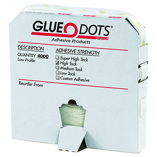 Glue Dots GD103 1/2'' - High Tack - Low Profile (Pack of 4000) by Glue Dots