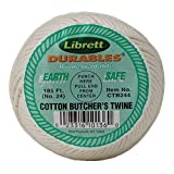 HIC Harold Import Librett Durables Butchers Twine, Cotton, 185-Feet, White