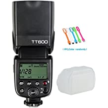 Godox TT600 Flash Speedlite with Built-in 2.4G Wireless Transmission for Canon, Nikon, Pentax, Olympus and and other Digital Cameras with Standard Hotshoe+ Diffuser+ CONXTRUE USB LED free gift