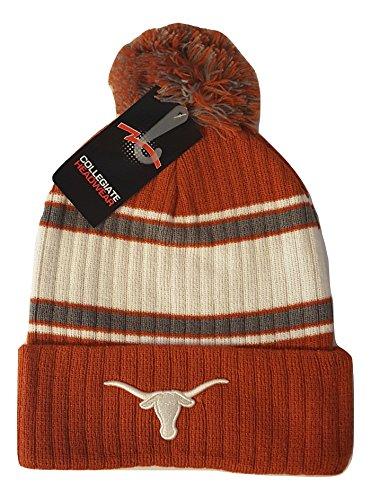 Texas Longhorns Beanie - Texas Longhorns Knit Cuff Beanie with Pom