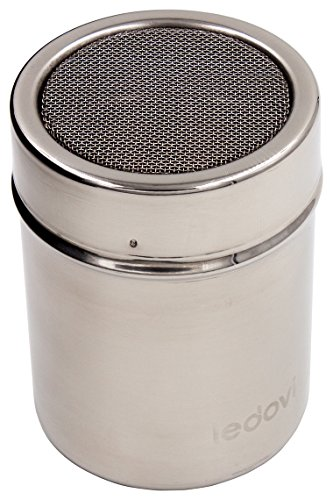 ledovi 4 Ounce Premium Stainless Steel Sugar Shaker with Lid - Professional Results with Minimum Effort (Latte Shakers And Pepper Salt)