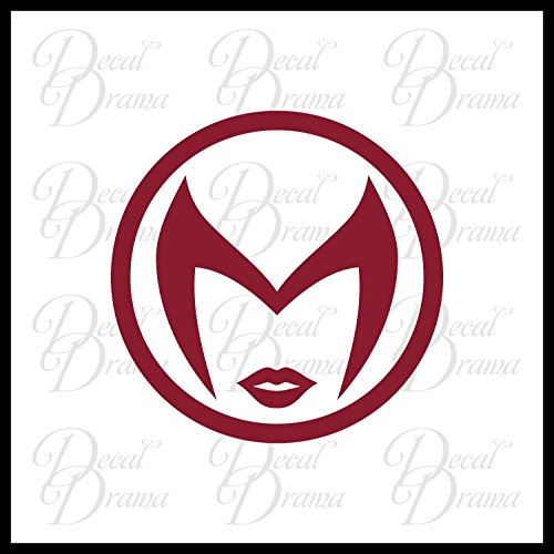 Black Widow Sign (Scarlet Witch emblem Vinyl Car/Laptop Decal, Marvel Comics-Inspired Fan Art)