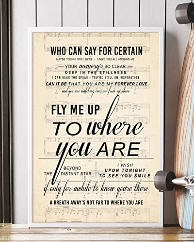 To Where You Are Song Lyrics Portrait Poster Print Mattata Decor (12