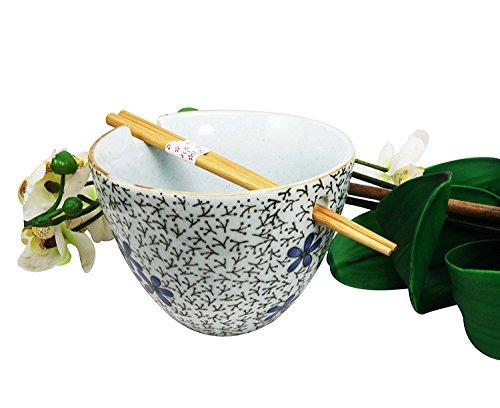 Japanese Floral Ceramic Noodle Chopsticks