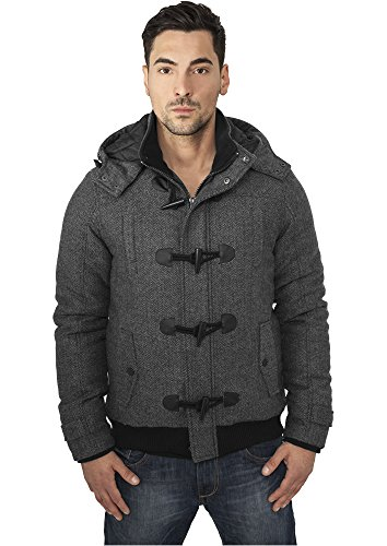 Mag Urban Classics TB577 Duffle Wool Pepper/Salt Jacket Veste homme Streetwear Winter Jacken