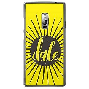 Loud Universe Oneplus 2 Titles Dale Printed Transparent Edge Case - Yellow/Black