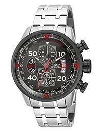 Invicta Men's 17204 Aviator Analog Display Japanese Quartz Silver Watch